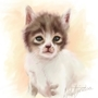 Speed paint Kitten by emiliapaw5