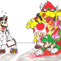 Dr. Mario VS T-virus by Abbyka