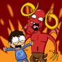 Leo and Satan by CharlieCheeseBurger