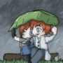 In The Rain by Walkingpalmtree