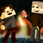 Jake & EiE in the Nether by JakeBladey
