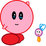 Kirby with a Yotta Burt by KirbyRider
