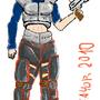 armored black haired female by Mefayor