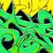 Green Wildstyle Sticker