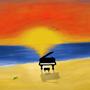 Dusk on silent canvas