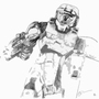 Master Chief and BR by objuan33
