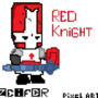 Pixel Red knight by ZzeiferR