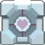 Pixel Companion Cube by pizzapants