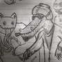 my friends, alligator and yeti by jonwrestlesbears