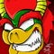 Bowser's beamy grin