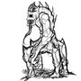 Krezai sentry creature by xente