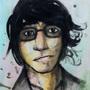 Self-portrait with watercolour by UndefinedArt