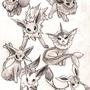 Eevee Evolutions by KawaiiGrapefruit