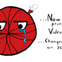Sad red basketball by Soundtouch