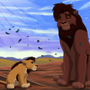 Kovu and his son by Gashu-Monsata