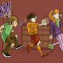 Scooby Doo gang by Pillowmint