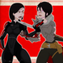 Hawke vs. Shepard by RubberNinja