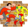 P2 Superman Kicks Your Nuts by kevinbolk