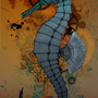 steampunk seahorse by aChocolateCake
