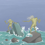 Vying Tidal Hags by J-qb