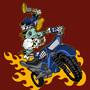 Skull Biker by prokiko