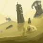 RUINS DESERT N COLOSSUS by Alef321