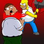 Homer Axes Peter by Barzona