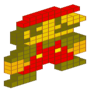 8-Bit Isometric Mario by BlackBone