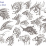 Dragon heads reference sheet by archir