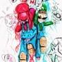 Super Mario Bros. Art by Afterhumanity