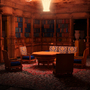 Hearst Castle Library By Night by Mischie