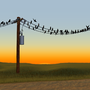 Birds On a Wire by gr33bl3r