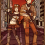 Post-Apocalyptic Siblings by G0blin