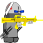 Danny V2 (With Gold Famas) by UltimoTheHedgehog