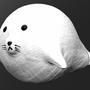 Chubby white seal by Asandir