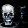 skull and glass by Hildebrandt