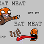 EAT MEAT by Gahjo