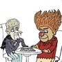 Heat Miser n Snow Miser chess by doopliss96