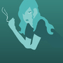vector smoking girl by BlackmarketKraig