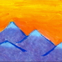 Mountain Range in the Sunset by BluesterFrog