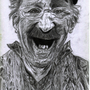 Pencil drawing of old dude by Treborre