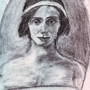 Pencil drawing of Anna Pavlova by Treborre