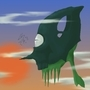 Flying Alien Squid by greentrees5x5