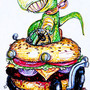 T-Rex Cheeseburger Hotrod by Schteeve