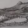 Crocodile Skull by JamesBeavers91