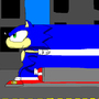 sonic running! by sonicblueawsome