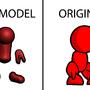 3D Redman Art by UltimoTheHedgehog