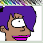 Ms.paint drawing of Leela by xlxleahxlx