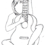 Girl and Guitar by Harlandgirl
