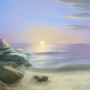 Soft Rock Beach by NPCWolf